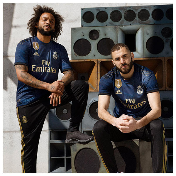 Karim Benzema and Marcelo wear the 2019-20 Real Madrid Away Kit