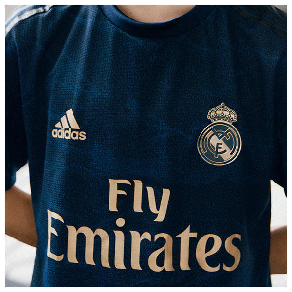 Gold trim and logos are a reference to Real Madrid's numerous successes