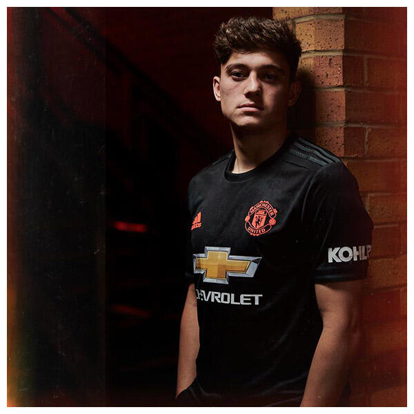 Daniel James wears the 2019/20 Manchester United Third Kit