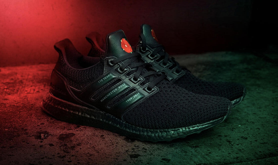 Manchester United Special Edition RED ROSE adidas UltraBoost Trainer