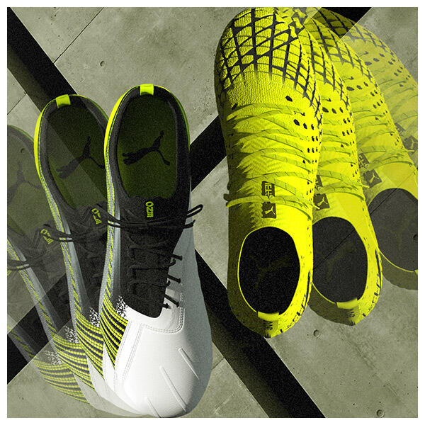 The PUMA RUSH pack celebrates that injection of no-limit, hyper energy that elevates performance, dynamism, speed and skill