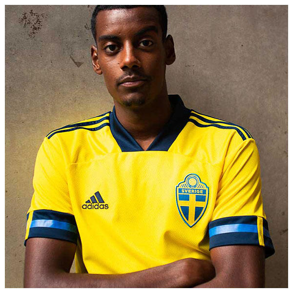 The 2020 Sweden Home Jersey from adidas Football unites class and modernity