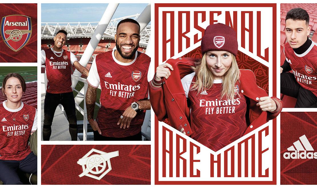 Arsenal Home Kit Header