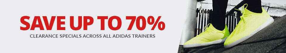 Save up to 70% on all adidas trainers