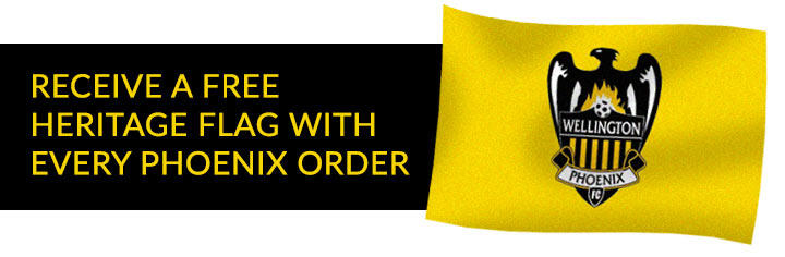 Recieve a free heritage glage with every Wellington Phoenix order